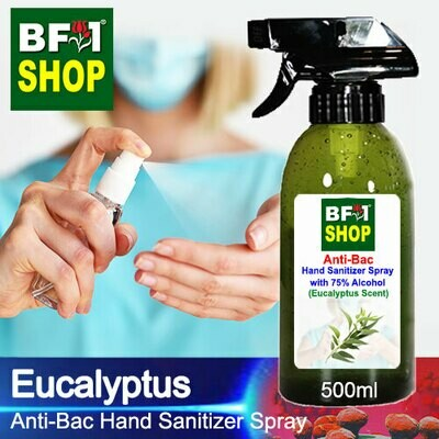 Anti-Bac Hand Sanitizer Spray with 75% Alcohol (ABHSS) - Eucalyptus - 500ml