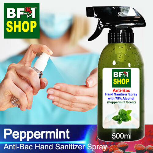 Anti-Bac Hand Sanitizer Spray with 75% Alcohol (ABHSS) - mint - Peppermint - 500ml