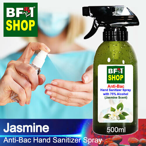 Anti-Bac Hand Sanitizer Spray with 75% Alcohol (ABHSS) - Jasmine - 500ml