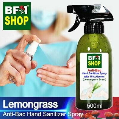 Anti-Bac Hand Sanitizer Spray with 75% Alcohol (ABHSS) - Lemongrass - 500ml