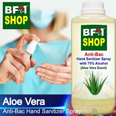 Anti-Bac Hand Sanitizer Spray with 75% Alcohol (ABHSS) - Aloe Vera - 1L