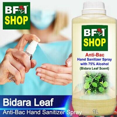 Anti-Bac Hand Sanitizer Spray with 75% Alcohol (ABHSS) - Bidara - 1L