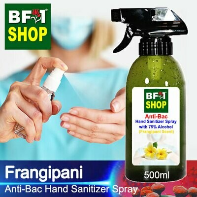 Anti-Bac Hand Sanitizer Spray with 75% Alcohol (ABHSS) - Frangipani - 500ml