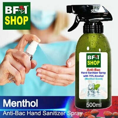 Anti-Bac Hand Sanitizer Spray with 75% Alcohol (ABHSS) - Menthol - 500ml