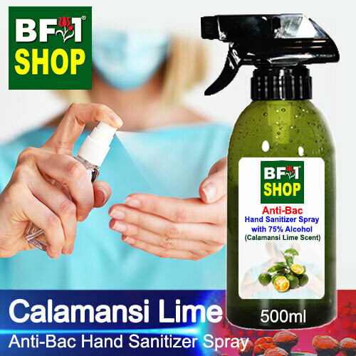 Anti-Bac Hand Sanitizer Spray with 75% Alcohol (ABHSS) - lime - Calamansi Lime - 500ml