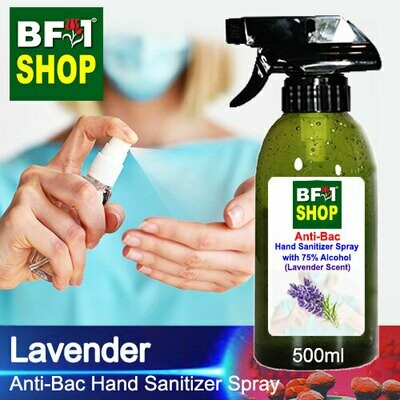 Anti-Bac Hand Sanitizer Spray with 75% Alcohol (ABHSS) - Lavender - 500ml