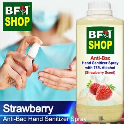 Anti-Bac Hand Sanitizer Spray with 75% Alcohol (ABHSS) - Strawberry - 1L