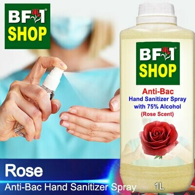 Anti-Bac Hand Sanitizer Spray with 75% Alcohol (ABHSS) - Rose - 1L