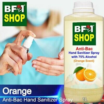 Anti-Bac Hand Sanitizer Spray with 75% Alcohol (ABHSS) - Orange - 1L