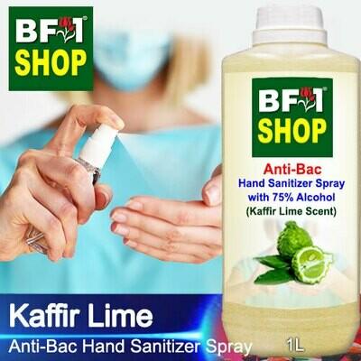 Anti-Bac Hand Sanitizer Spray with 75% Alcohol (ABHSS) - lime - Kaffir Lime - 1L