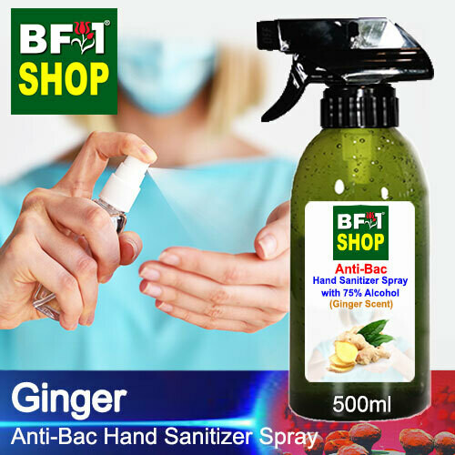 Anti-Bac Hand Sanitizer Spray with 75% Alcohol (ABHSS) - Ginger - 500ml
