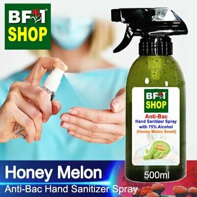 Anti-Bac Hand Sanitizer Spray with 75% Alcohol (ABHSS) - Honey Melon - 500ml