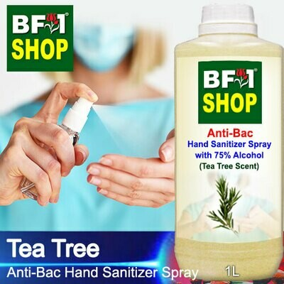 Anti-Bac Hand Sanitizer Spray with 75% Alcohol (ABHSS) - Tea Tree - 1L
