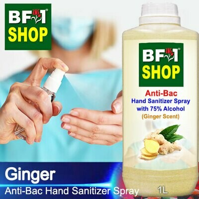 Anti-Bac Hand Sanitizer Spray with 75% Alcohol (ABHSS) - Ginger - 1L