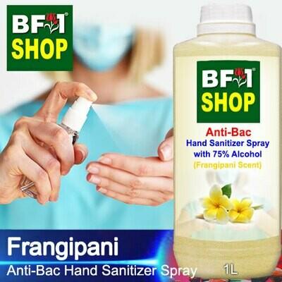 Anti-Bac Hand Sanitizer Spray with 75% Alcohol (ABHSS) - Frangipani - 1L