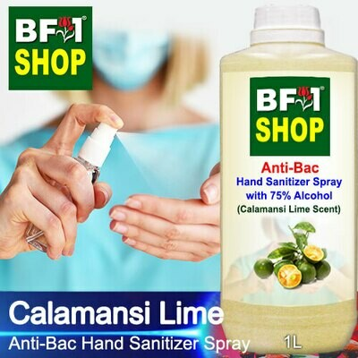 Anti-Bac Hand Sanitizer Spray with 75% Alcohol (ABHSS) - lime - Calamansi Lime - 1L