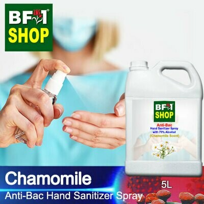 Anti-Bac Hand Sanitizer Spray with 75% Alcohol (ABHSS) - Chamomile - 5L