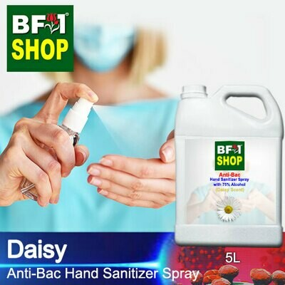 Anti-Bac Hand Sanitizer Spray with 75% Alcohol (ABHSS) - Daisy - 5L