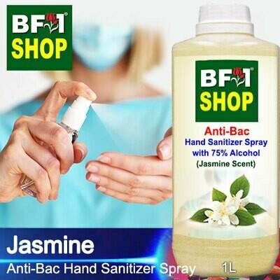 Anti-Bac Hand Sanitizer Spray with 75% Alcohol (ABHSS) - Jasmine - 1L