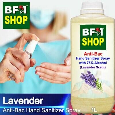 Anti-Bac Hand Sanitizer Spray with 75% Alcohol (ABHSS) - Lavender - 1L