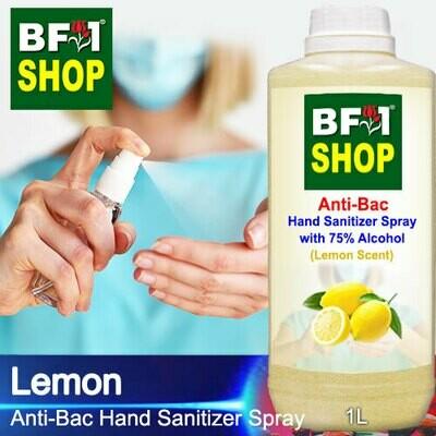 Anti-Bac Hand Sanitizer Spray with 75% Alcohol (ABHSS) - Lemon - 1L
