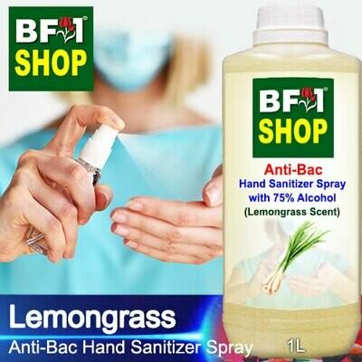 Anti-Bac Hand Sanitizer Spray with 75% Alcohol (ABHSS) - Lemongrass - 1L