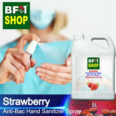 Anti-Bac Hand Sanitizer Spray with 75% Alcohol (ABHSS) - Strawberry - 5L