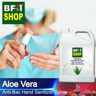 Anti-Bac Hand Sanitizer Spray with 75% Alcohol (ABHSS) - Aloe Vera - 5L