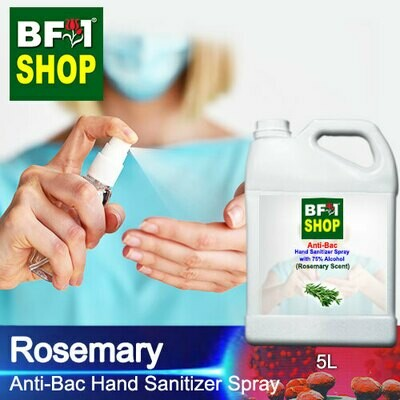 Anti-Bac Hand Sanitizer Spray with 75% Alcohol (ABHSS) - Rosemary - 5L