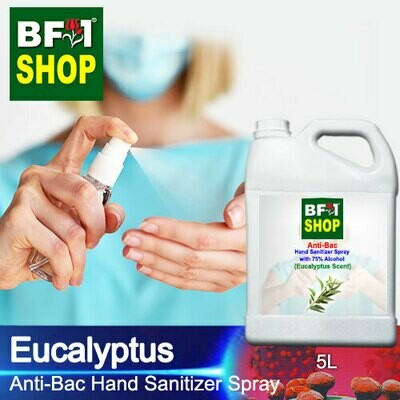 Anti-Bac Hand Sanitizer Spray with 75% Alcohol (ABHSS) - Eucalyptus - 5L