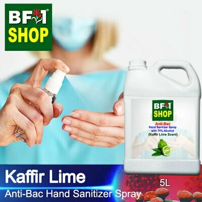 Anti-Bac Hand Sanitizer Spray with 75% Alcohol (ABHSS) - lime - Kaffir Lime - 5L