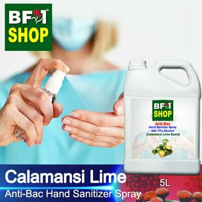 Anti-Bac Hand Sanitizer Spray with 75% Alcohol (ABHSS) - lime - Calamansi Lime - 5L