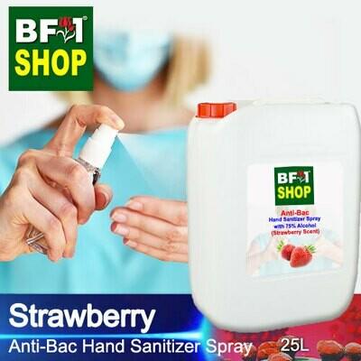 Anti-Bac Hand Sanitizer Spray with 75% Alcohol (ABHSS) - Strawberry - 25L