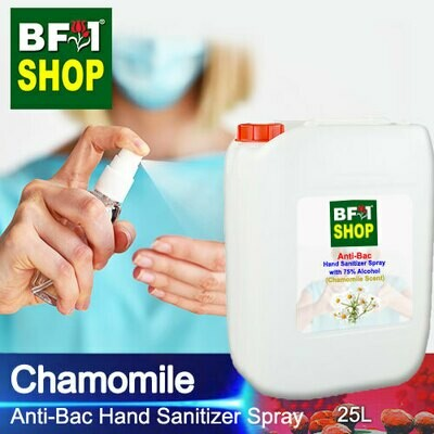 Anti-Bac Hand Sanitizer Spray with 75% Alcohol (ABHSS) - Chamomile - 25L