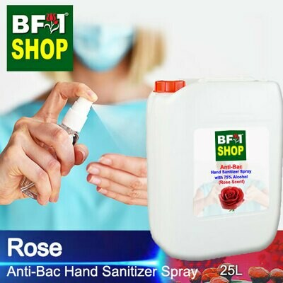 Anti-Bac Hand Sanitizer Spray with 75% Alcohol (ABHSS) - Rose - 25L
