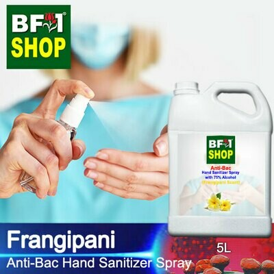 Anti-Bac Hand Sanitizer Spray with 75% Alcohol (ABHSS) - Frangipani - 5L