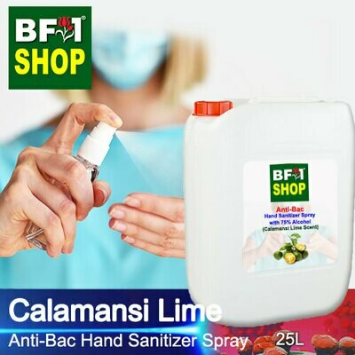 Anti-Bac Hand Sanitizer Spray with 75% Alcohol (ABHSS) - lime - Calamansi Lime - 25L