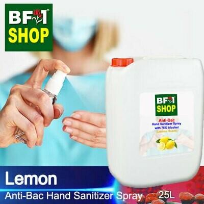 Anti-Bac Hand Sanitizer Spray with 75% Alcohol (ABHSS) - Lemon - 25L