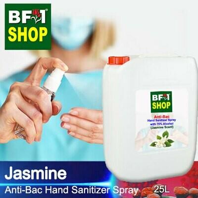 Anti-Bac Hand Sanitizer Spray with 75% Alcohol (ABHSS) - Jasmine - 25L