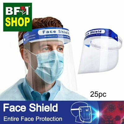 Face Shield - Entire Face Protection - 25pc
