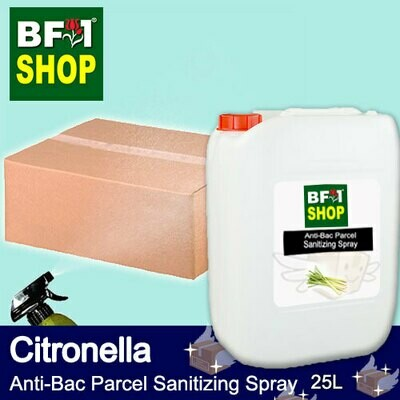 Anti-Bac Parcel Sanitizing Spray (ABPS) - Citronella - 25L