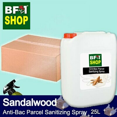 Anti-Bac Parcel Sanitizing Spray (ABPS) - Sandalwood - 25L