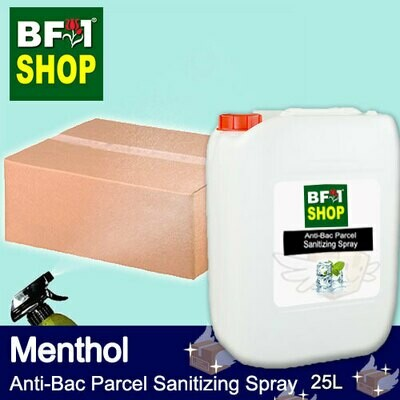 Anti-Bac Parcel Sanitizing Spray (ABPS) - Menthol - 25L