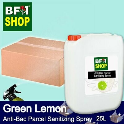 Anti-Bac Parcel Sanitizing Spray (ABPS) - Lemon - Green Lemon - 25L