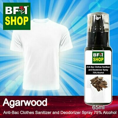 Anti-Bac Clothes Sanitizer and Deodorizer Spray (ABCSD) - 75% Alcohol with Agarwood - 65ml