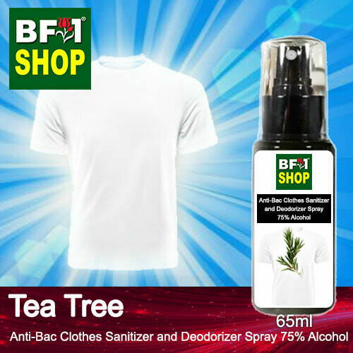 Anti-Bac Clothes Sanitizer and Deodorizer Spray (ABCSD) - 75% Alcohol with Tea Tree - 65ml