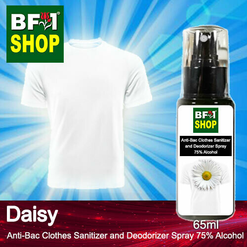 Anti-Bac Clothes Sanitizer and Deodorizer Spray (ABCSD) - 75% Alcohol with Daisy - 65ml