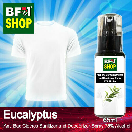 Anti-Bac Clothes Sanitizer and Deodorizer Spray (ABCSD) - 75% Alcohol with Eucalyptus - 65ml