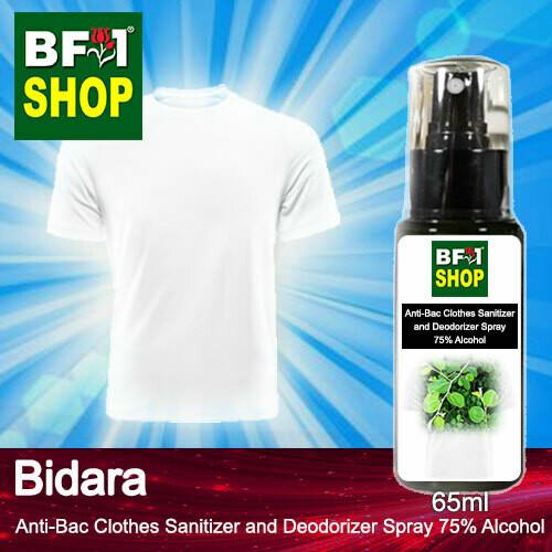 Anti-Bac Clothes Sanitizer and Deodorizer Spray (ABCSD) - 75% Alcohol with Bidara - 65ml
