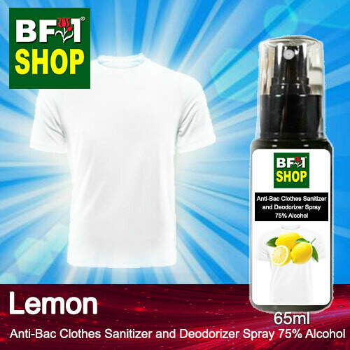 Anti-Bac Clothes Sanitizer and Deodorizer Spray (ABCSD) - 75% Alcohol with Lemon - 65ml